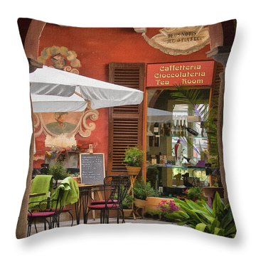 Caffeteria Orta San Guilio Throw Pillow