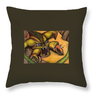 Caffiene Throw Pillow