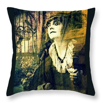 Throw Pillow featuring the digital art Blueprint For The Frightened by Delight Worthyn