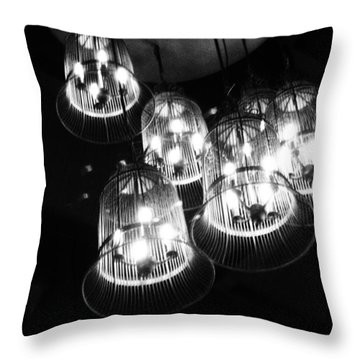 Caged Lights Throw Pillow by Kaleidoscopik Photography