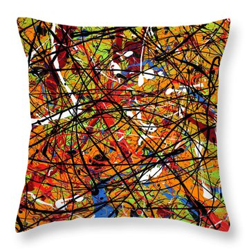 Cagey Cretins Throw Pillow by Ric Bascobert