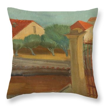 Cagnes-sur-mer Throw Pillow