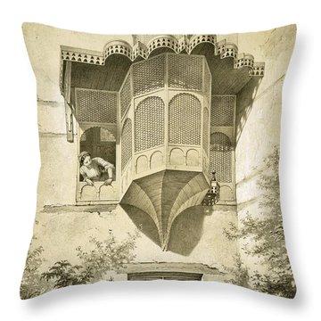 Cairo House Called Beyt El-emyr , 19th Throw Pillow