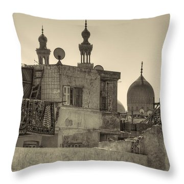 Throw Pillow featuring the photograph Cairo Skyline II by Nigel Fletcher-Jones