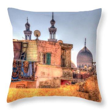 Throw Pillow featuring the photograph Cairo Skyline by Nigel Fletcher-Jones