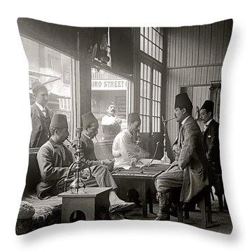 Cairo St. Cafe 1894 Throw Pillow