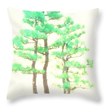 Caitlin Elm Bonsai Tree Throw Pillow
