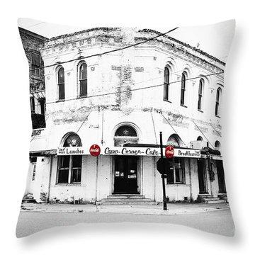 Cajun Corner Cafe Throw Pillow by Scott Pellegrin