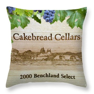 Cakebread Cellars Throw Pillow