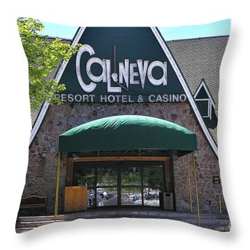 Cal Neva - Lake Tahoe Throw Pillow