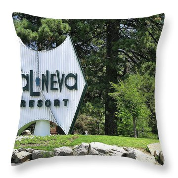 Cal Neva Resort - Lake Tahoe Throw Pillow