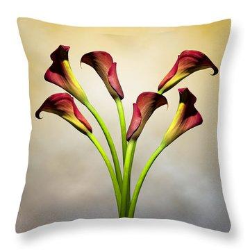 Cala Lily 5 Throw Pillow