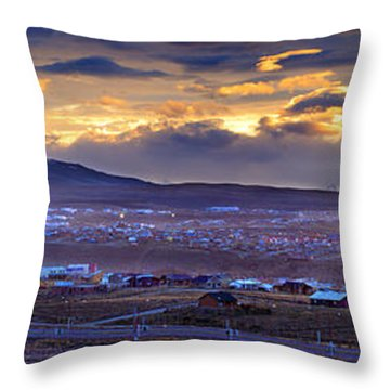 Calafate Panoramic Throw Pillow by Bernardo Galmarini