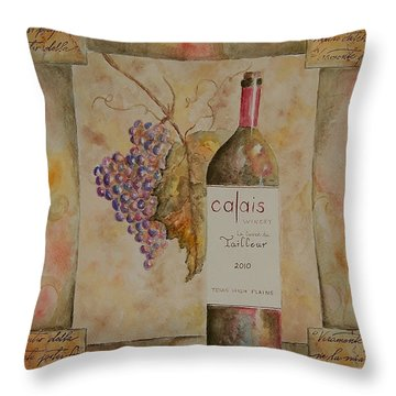 Calais Vineyard Throw Pillow