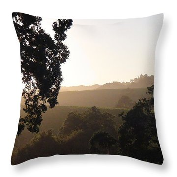 Throw Pillow featuring the photograph Cali Sun Set by Shawn Marlow