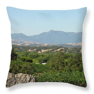 Throw Pillow featuring the photograph Cali View by Shawn Marlow