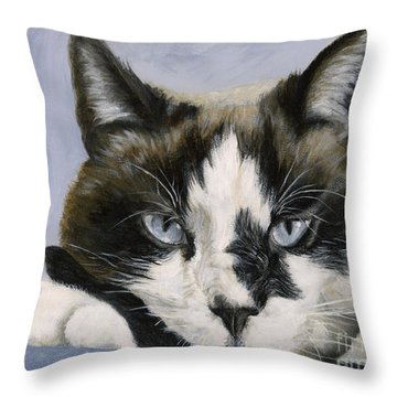 Calico Cat With Attitude Throw Pillow