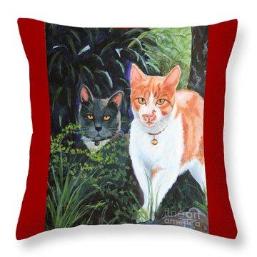 Califorian Cats Throw Pillow