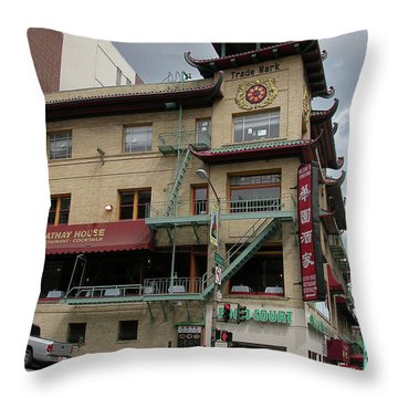California At Grant Throw Pillow by Guy Whiteley