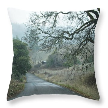 California Back Country Road Throw Pillow