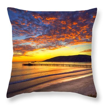Avila Beach Sunset Throw Pillow