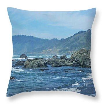California Beaches 3 Throw Pillow