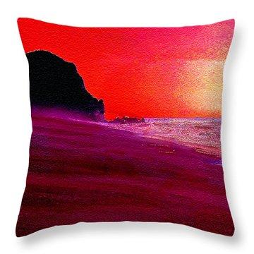 California Beaches Throw Pillow