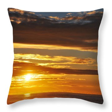 Throw Pillow featuring the photograph California Central Coast Sunset by Kyle Hanson