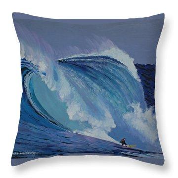 California Throw Pillow by Chikako Hashimoto Lichnowsky