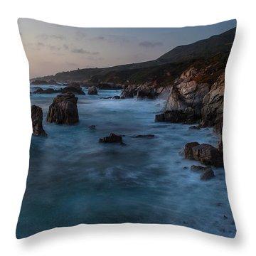 California Coast Dusk Throw Pillow by Mike Reid