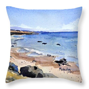 California Coastline Throw Pillow by Spencer Meagher