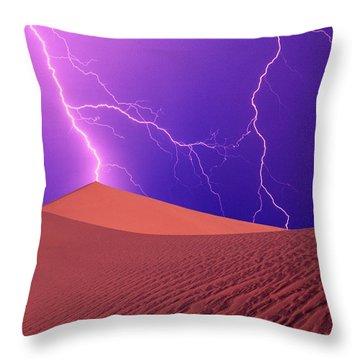 Heat Lightning Throw Pillows