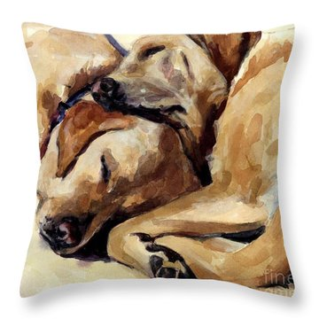 California Dreamers Throw Pillow by Molly Poole
