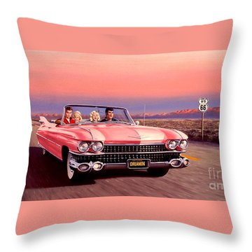 Throw Pillow featuring the painting California Dreamin' by Michael Swanson