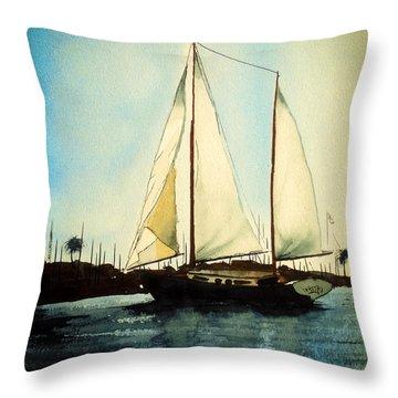 California Dreamin V Throw Pillow by Kip DeVore