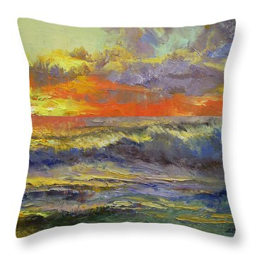 California Dreaming Throw Pillow by Michael Creese