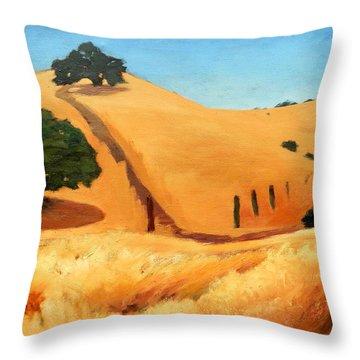 California Dry Grass Throw Pillow by Gary Coleman