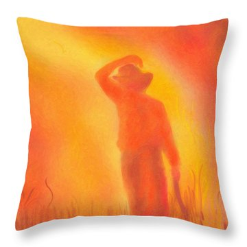 California Fires Throw Pillow by Angela A Stanton