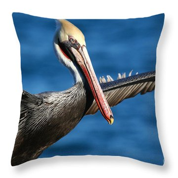 Freedom In Blue Throw Pillow