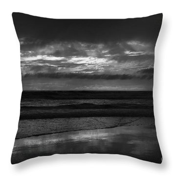 Throw Pillow featuring the photograph  Cardiff Godrays by John F Tsumas