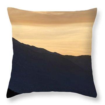California Golden Desert Sunset Throw Pillow by Heidi Smith