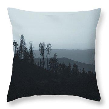 California Gray Skies Throw Pillow