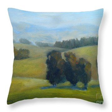 California Hills Late February Throw Pillow