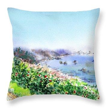 Lighthouse Trinidad California Throw Pillow