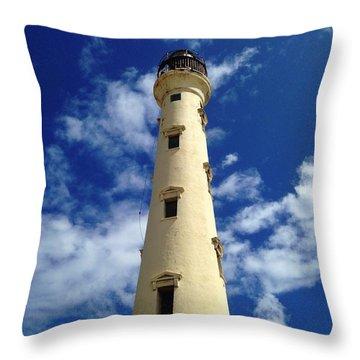California Lighthouse Throw Pillow