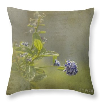 California Lilac Throw Pillow by Clare Bambers