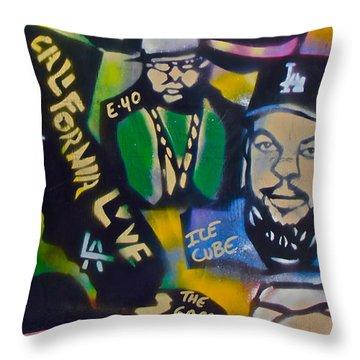 California Love Throw Pillow by Tony B Conscious