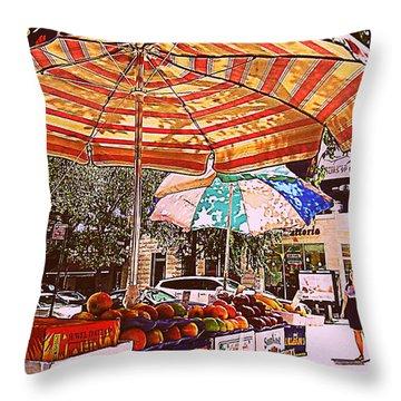 California Oranges Throw Pillow by Miriam Danar