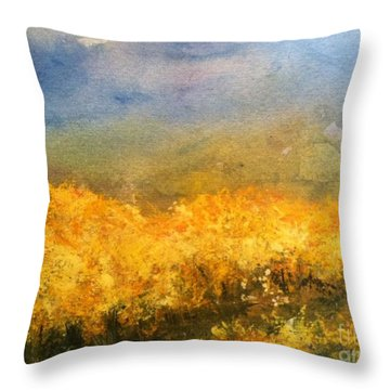 California Orchards Throw Pillow