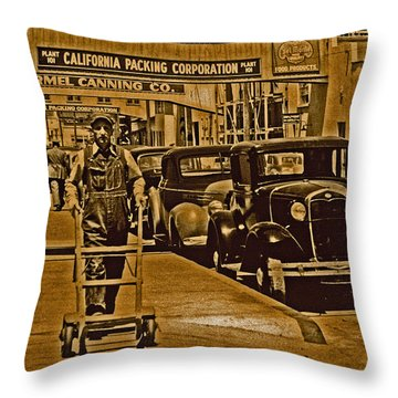 California Packing Corporation Throw Pillow